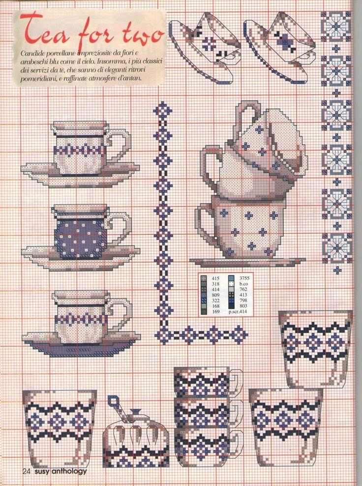 2935 best patronen van images on pinterest for Cross stitch kitchen designs