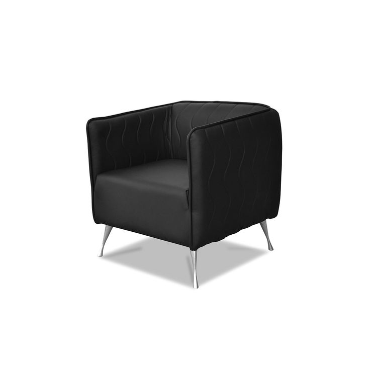Black chair addition to every interior. Beautifully decorated with ornate legs.