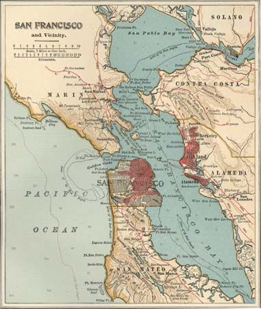 San Francisco Bay: San Francisco Bay area, c. 1900