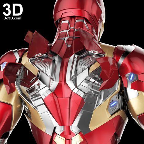 3D Printable Suit: Iron Man Mark XLVI Armor (Model: MK 46) from Captain America Civil War Version 2.2   File Formats: STL OBJ – Do3D.com