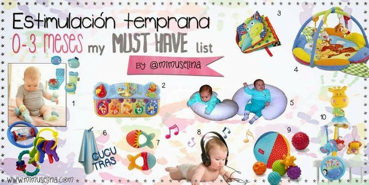 Actividades estimulacion temprana bebes 0 a 3 meses by mimuselina bebe 0m pinterest bebe - Juguetes para ninos 10 meses ...