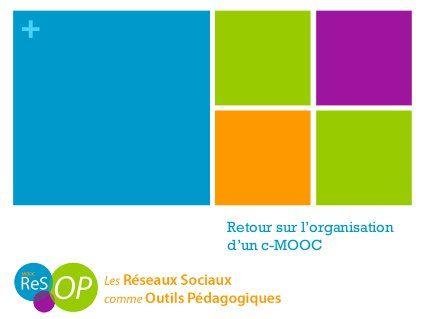 Retour d'expérience sur le MOOC ReSOP #MOOC
