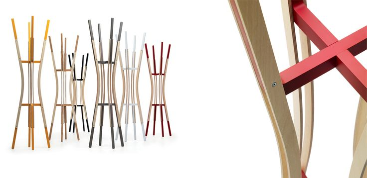 TAGO è un appendiabiti free-standing realizzato in legno massello e inserti di multistrato. Partendo da due moduli base uniti insieme con poche viti, nasce un pezzo con una forte connotazione iconica quasi scultorea, un oggetto che vive sia per la funzione che assolve sia come puro elemento decorativo; le diverse finiture, poi, permettono di collocarlo con semplicità in ogni contesto.