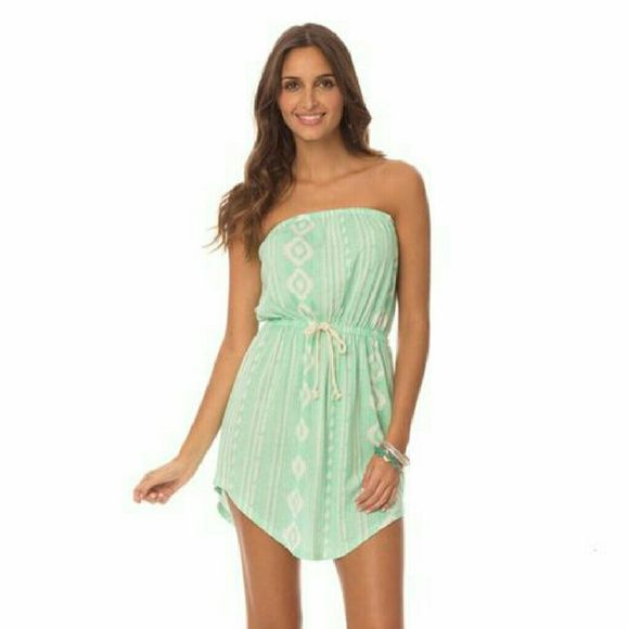 Sale! << Tribal Princess Aztec Summer Dress >> So cute! A mint color tube top dress with elastic banding at bust and waist. Cute rope faux Drawstring in front. A Summer staple! Perfect as a day dress or a cover up! Coverage in front and back so wear care free!  Fits true to size Twang Boutique  Dresses Mini