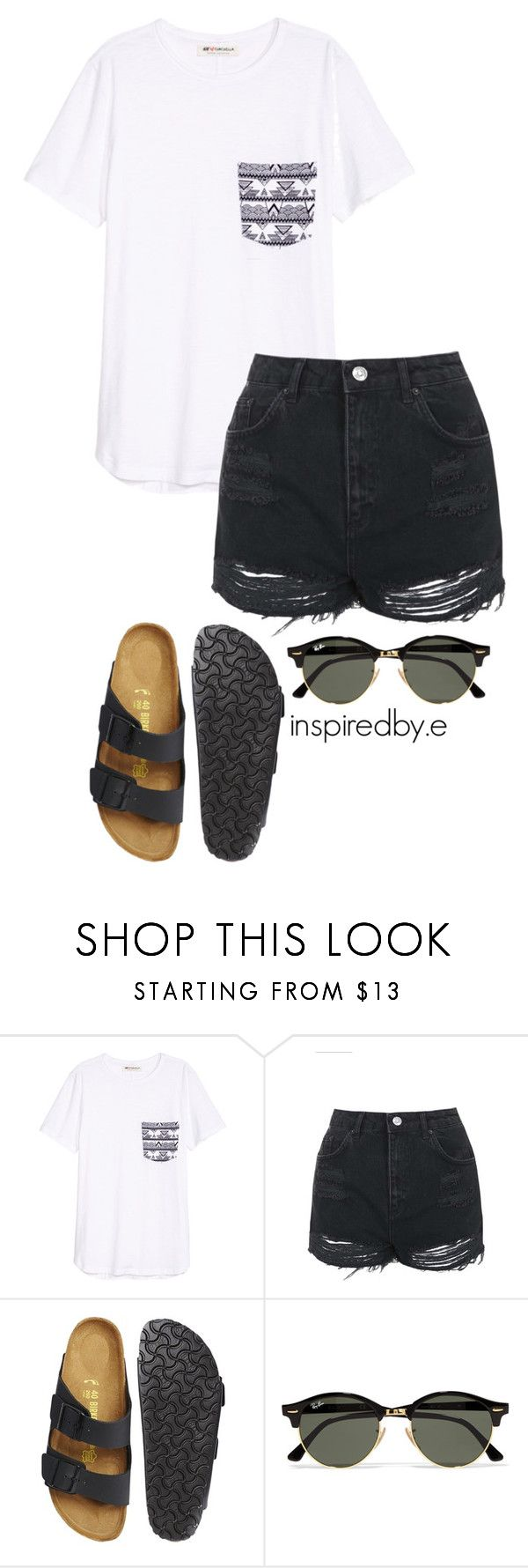 """Boy toy"" by emmakiis on Polyvore featuring Topshop, Birkenstock and Ray-Ban"