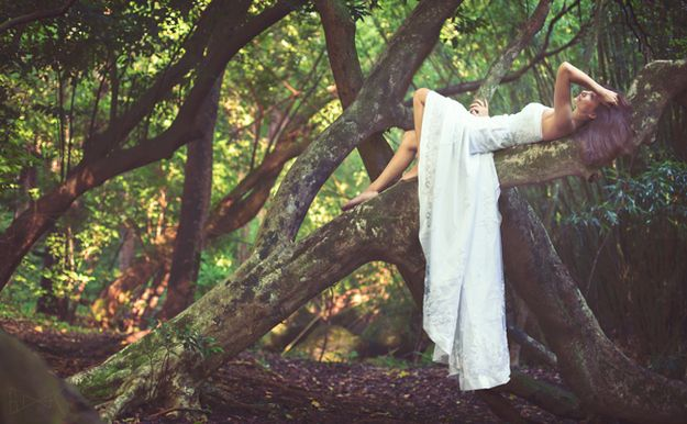 Unleash your inner fairy in the forest | 28 Ways To Trash Your Wedding Dress