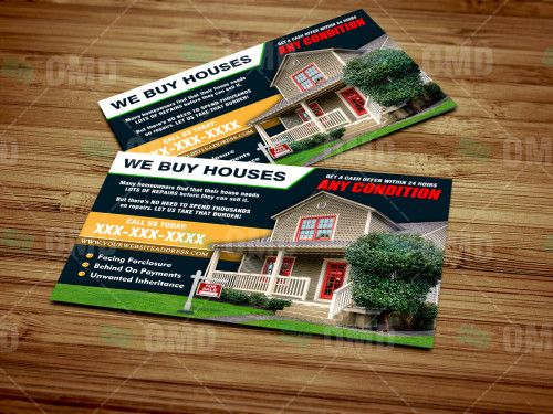 """Full Color """"We Buy Houses"""" Postcard design. by Real Estate Lead Generator"""