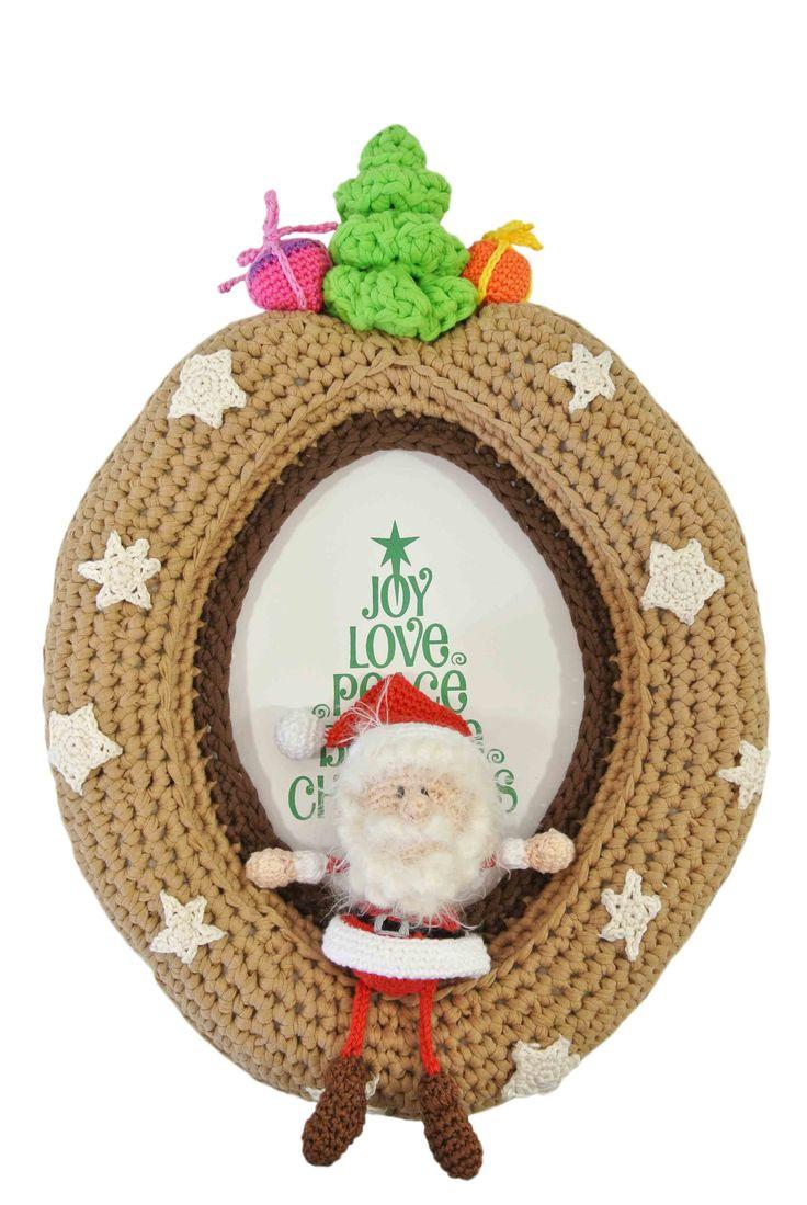 Bengels in de lijst, thema kerst Haakpret