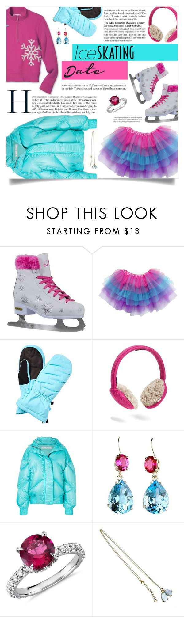 """""""Skate Date: Ice Skating Outfit"""" by ezgi-g ❤ liked on Polyvore featuring Spyder, U R, Ienki Ienki, Gemjunky, Blue Nile and iceskatingoutfit"""
