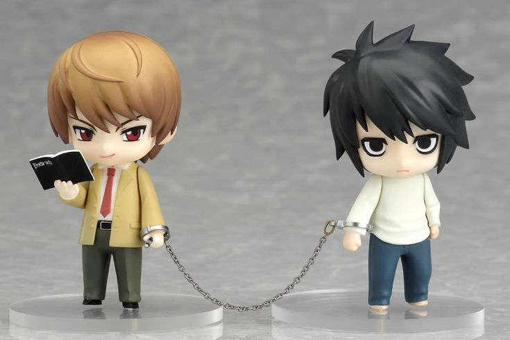 Death Note Chibi Figure - Yagami Light & L Lawliet | Death ...