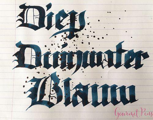 Ink Shot Review P.W. Akkerman Diep Duinwater Blauw @vulpennen 7 - Azizah Asgarali
