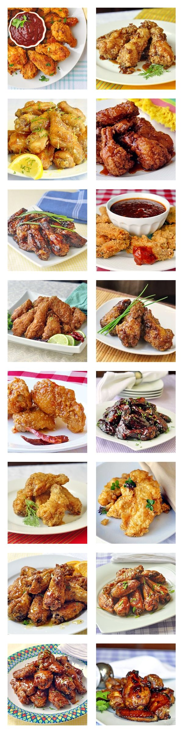 Need some wings to go with those St, Patrick's Day pints? This collection includes some great ones from Chili Lime, Maple Chipotle and Crispy Honey BBQ to Honey Garlic, Southern fried with Orange Honey Drizzle and Brown Sugar and Dijon Glazed.