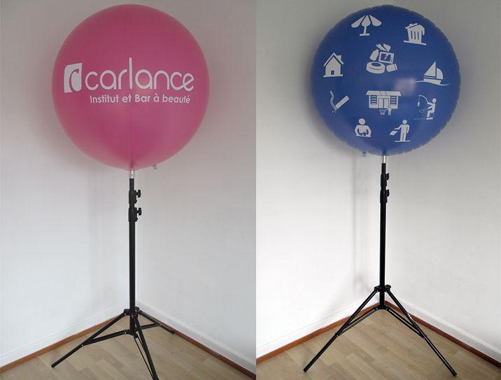 Ballon publicitaire avec impression numérique sur trépied/Mât télescopique