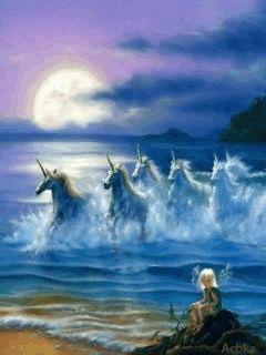 Horses in sea.gif
