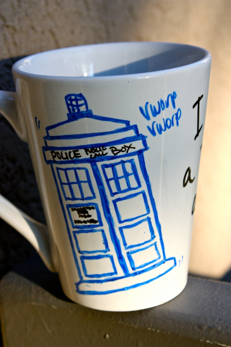 tardis sharpie mug