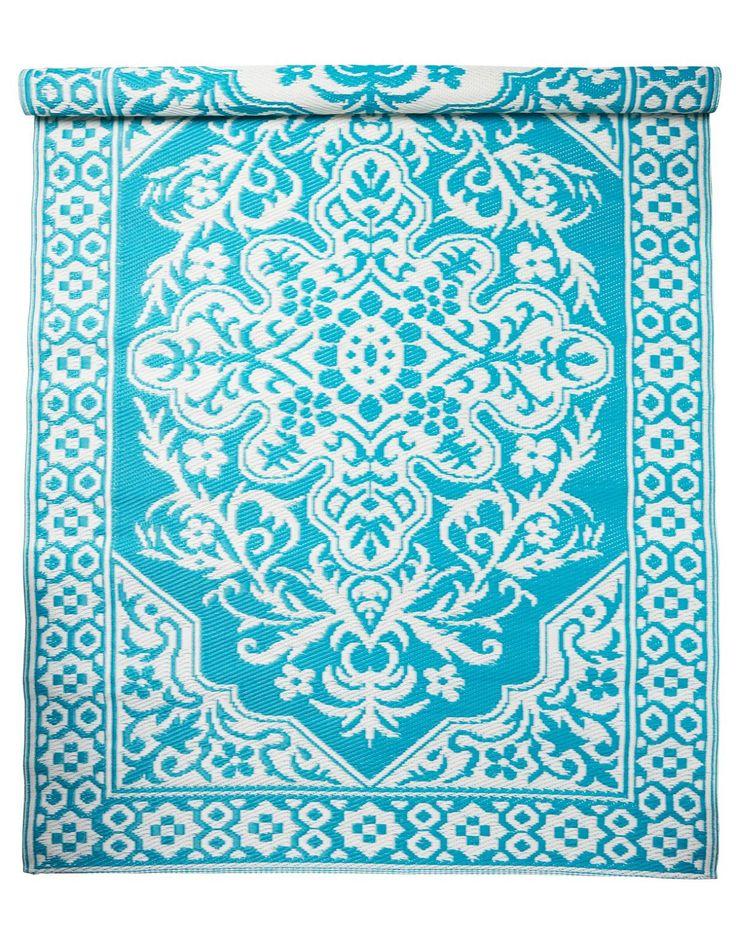 TAPTI plastic rug turquoise | Plastic rug | PlasticRug | Rugs | Interior | INDISKA Shop Online
