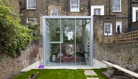 Modern Glass Cube Extension of Victorian Terraced House | DigsDigs