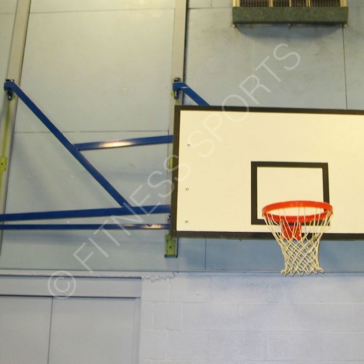 Extended Wall Mounted Folding Indoor Basketball Net Goals.