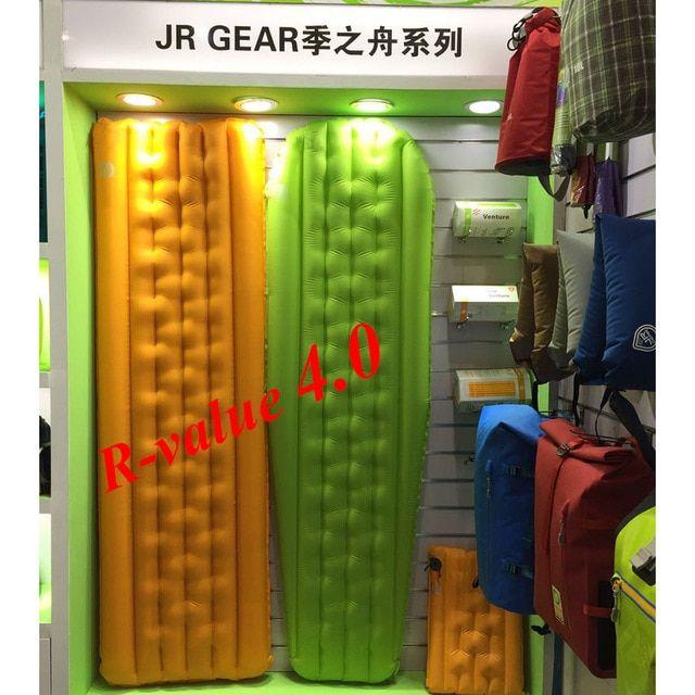 R-value 4.0 JR Gear ultralight outdoor air mattress ...