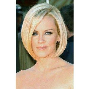 Jenny McCarthy Short Angled Bob Hairstyle - Polyvore