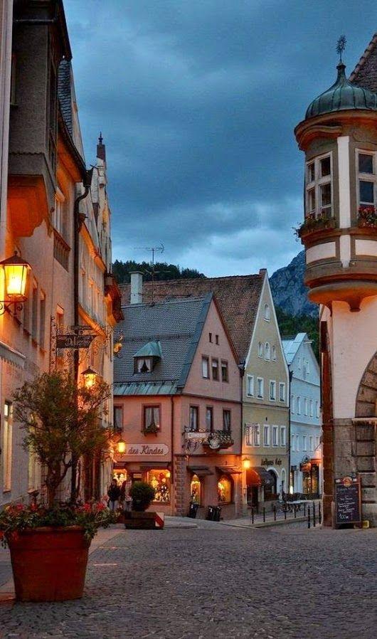 Centro storico di Fussen, Germania