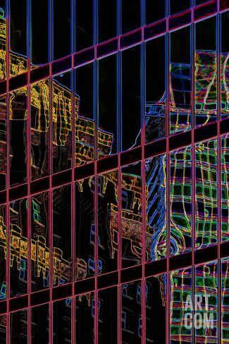 Neon-City Photographic Print by Ursula Abresch at Art.com