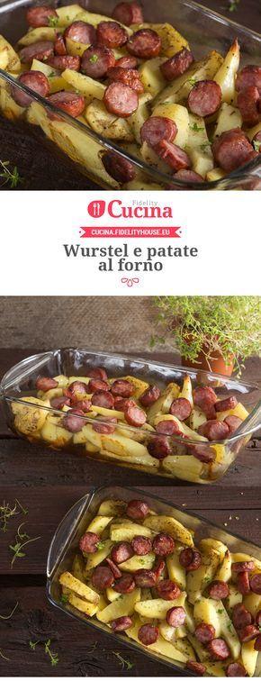 Wurstel e patate al forno