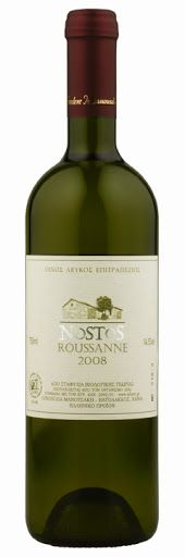 Manousakis Winery - Nostos Roussanne 2012. Grape varietal: Roussanne. The wine is certified organic. Our price, DKK 188.00