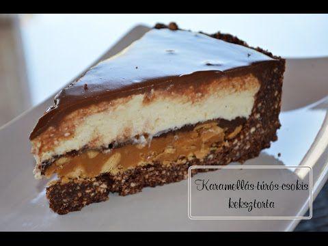 Karamellás-túrós-csokis keksztorta elkészítése recepttel - YouTube
