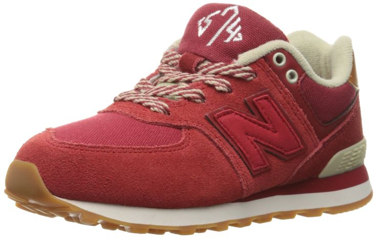 New Balance KL574V1 Pre Collegiate Pack Fashion Sneaker (Little Kid), Red/Yellow, 12 M US Little Kid. Ethylene vinyl acetate midsole and heel. Thermoplastic polyurethane heel clip.