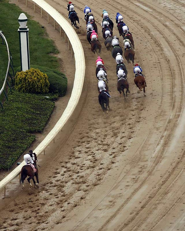 Mine That Bird at the start of Kentucky Derby. Came in the winner! 2009.