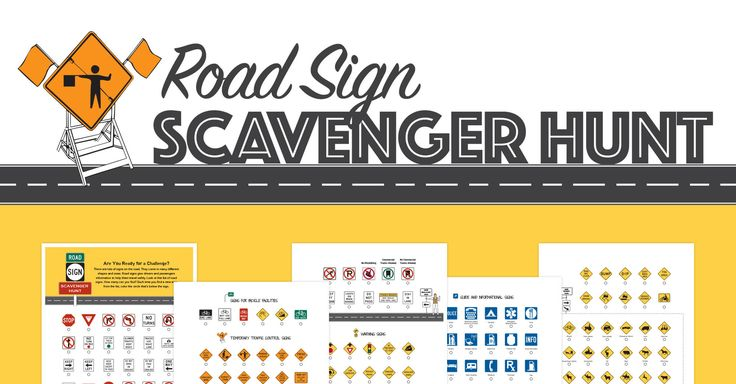 Road Sign Scavenger Hunt - Free Road Trip Printable from Big Toy Review