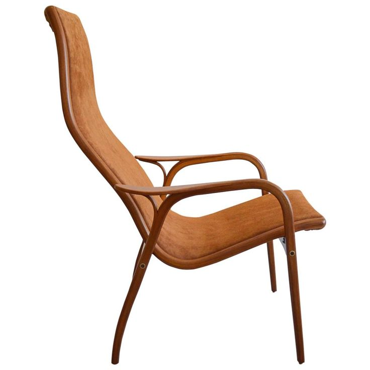 Suede Lamino Chair by Yngve Ekstrom | From a unique collection of antique and modern lounge chairs at https://www.1stdibs.com/furniture/seating/lounge-chairs/