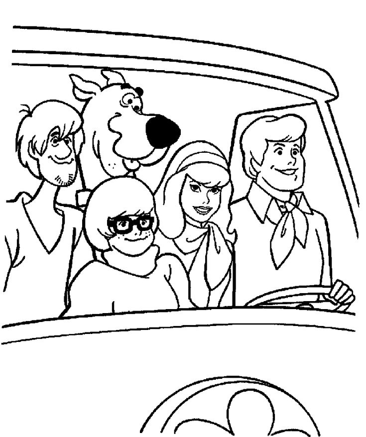 find this pin and more on coloring pages - Scooby Doo Coloring Book