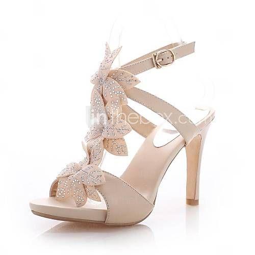 eur stiletto mariage talon orteil ouvert sandales de laine femmes avec la fleur. Black Bedroom Furniture Sets. Home Design Ideas