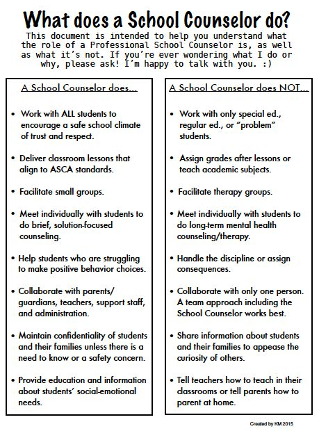 Ms. Sepp's Counselor Corner: What does a School Counselor do