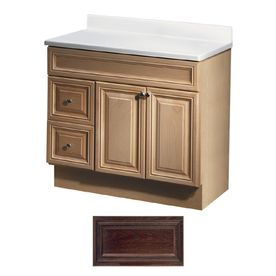 The Art Gallery Insignia Ridgefield Java Oak Traditional Bathroom Vanity Common in x