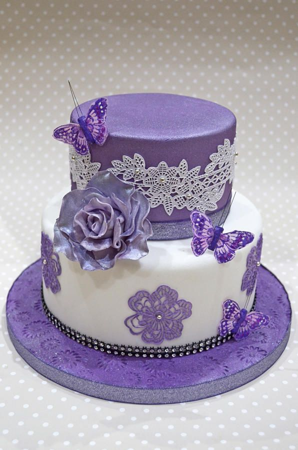 Purple lace and butterflies