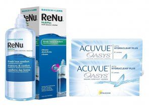 ACUVUE OASYS™ 6 Stk. x 2 + Renu Multiplus 360 ml