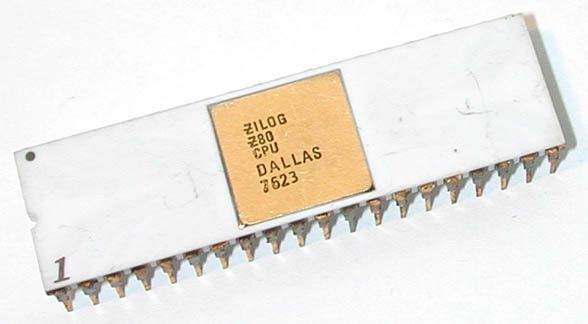 Zilog Z80. Zilog chips were used in Game Boy, Sinclair Spectrum, Amstrad CPC, MSX, Tandy TRS-80, Commodore 128, etc...