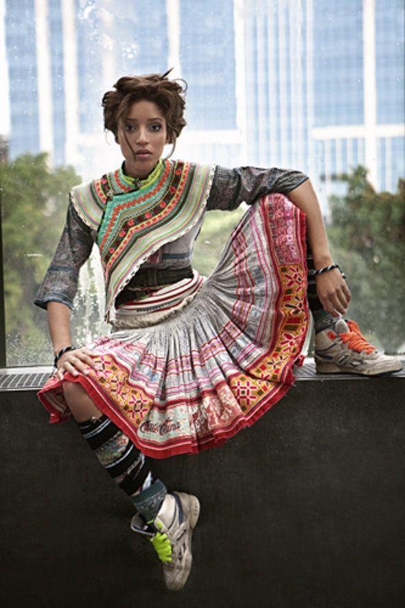 Définition de la mode ethnique chic, la mode ethnique africaine, asiatique ou d'Amérique latine pour femme et homme, pas cher et très tendance.
