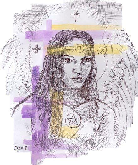 """ANGEL DE LOS MESES - OCTUBRE - BARBIEL  Categoría: LUCES Fuente: Basado en el A.D.A.M.A. y el Libro de Samahel Significado: """"En Cuatro Dios"""", o """"Sabio en la Ley de Dios"""". Símbolo: Ángel de la Sabiduría a causa de la Concienciación en los 4 elementos.  Uno de los 12 Ángeles de los Meses """"gobernados"""" por Laopusem cuyo nombre significa en hebreo """"En Cuatro Dios"""", o también según la Kabalah """"Sabio en la Ley de Dios""""."""