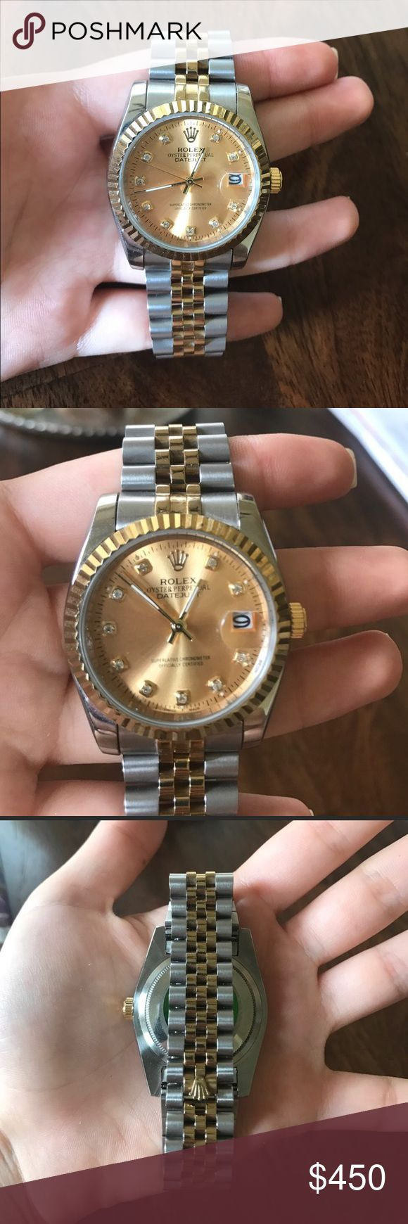 Rolex DateJust Watch💎💎 On sale!! Rolex watch brand new never worn! Price reflects. Let me know if you have any questions! Open to REASONABLE offers Rolex Accessories Watches