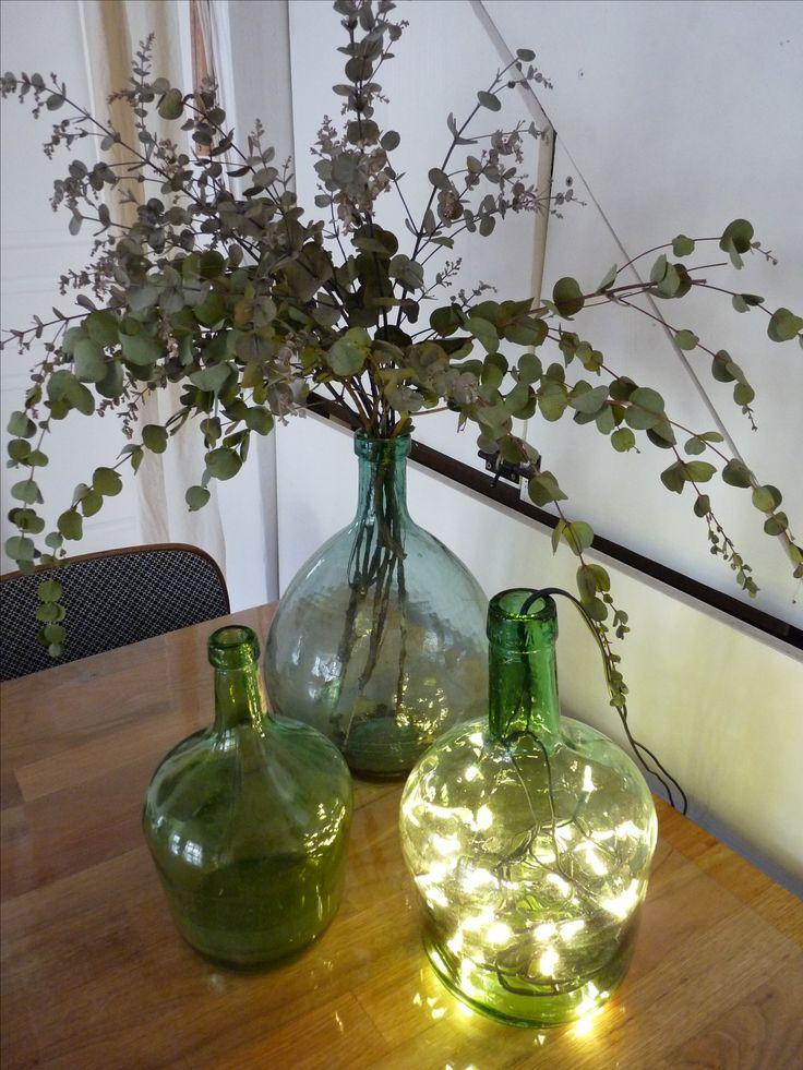 Les 25 meilleures id es de la cat gorie vase en verre sur pinterest vase de fleurs fleurs - Guirlande lumineuse salon ...