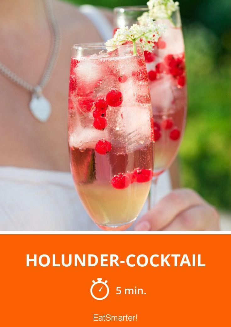 Holunder-Cocktail - smarter - Zeit: 5 Min. | eatsmarter.de