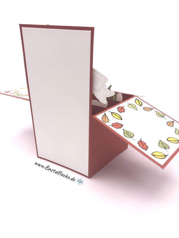 www.bastelflocke.de - Card in a Box – Glücksschwein spielt mit Laub #Stampinup #kumhausen #landshut #bayern #niederbayern #oberbayern #demo #stampinupdemonstrator #stampinuplandshut #bastelflocke #pinterest #instagram #youtube #karte #glücksschweinchen #glücklich #herbst #Geburtstag #set #geschenk #deintag #heuteistdeintag #laub #blätter #tanzen #herbstfarben #warmeatmosphäre #schweinchen #waldderworte #zwischendenzweigen #mitbringsel #geld #banner