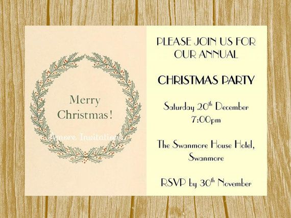 124 best sale 20 off at amoreinvitations images on pinterest diy digital printable vintage holly wreath christmas party wedding invitation template instant download downloadable microsoft word stopboris Images