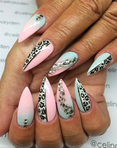 Blue Lepard by Celinas_Ryden from Nail Art Gallery