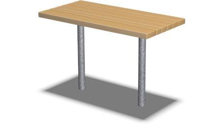 Table, Pine - KPL203 - Playground accessories and park furniture - Playground Equipment - KOMPAN