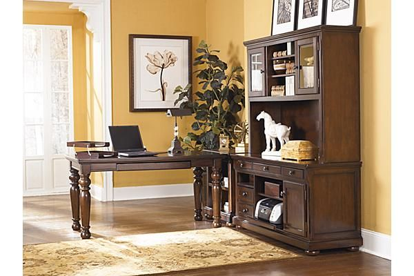 The Porter Credenza From Ashley Furniture Homestore The Warm Rustic Beauty Of The
